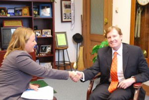 Beth Croughan interviews Mayor Driscoll